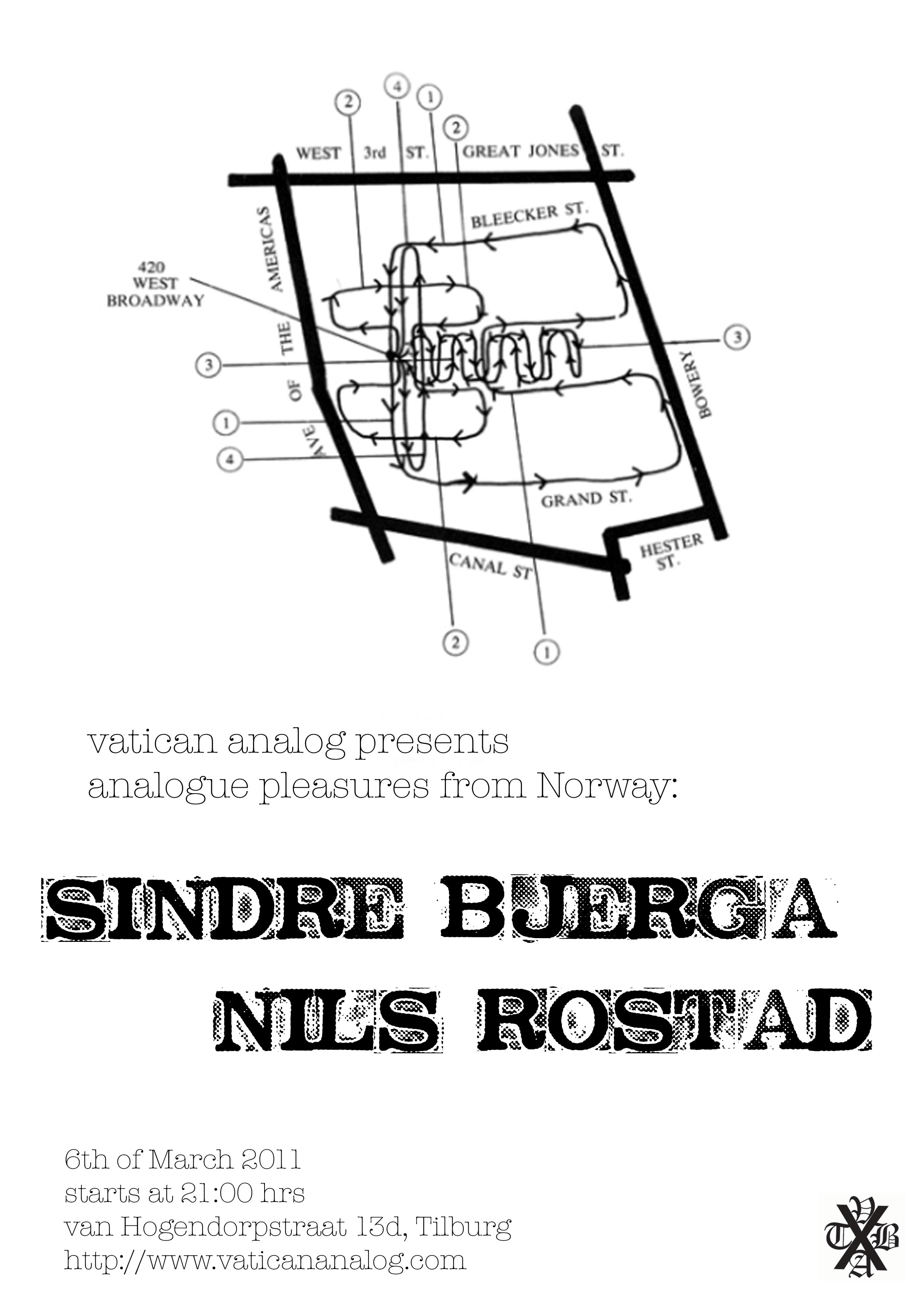 Upcoming show: Sindre Bjerga + Nils Rostad