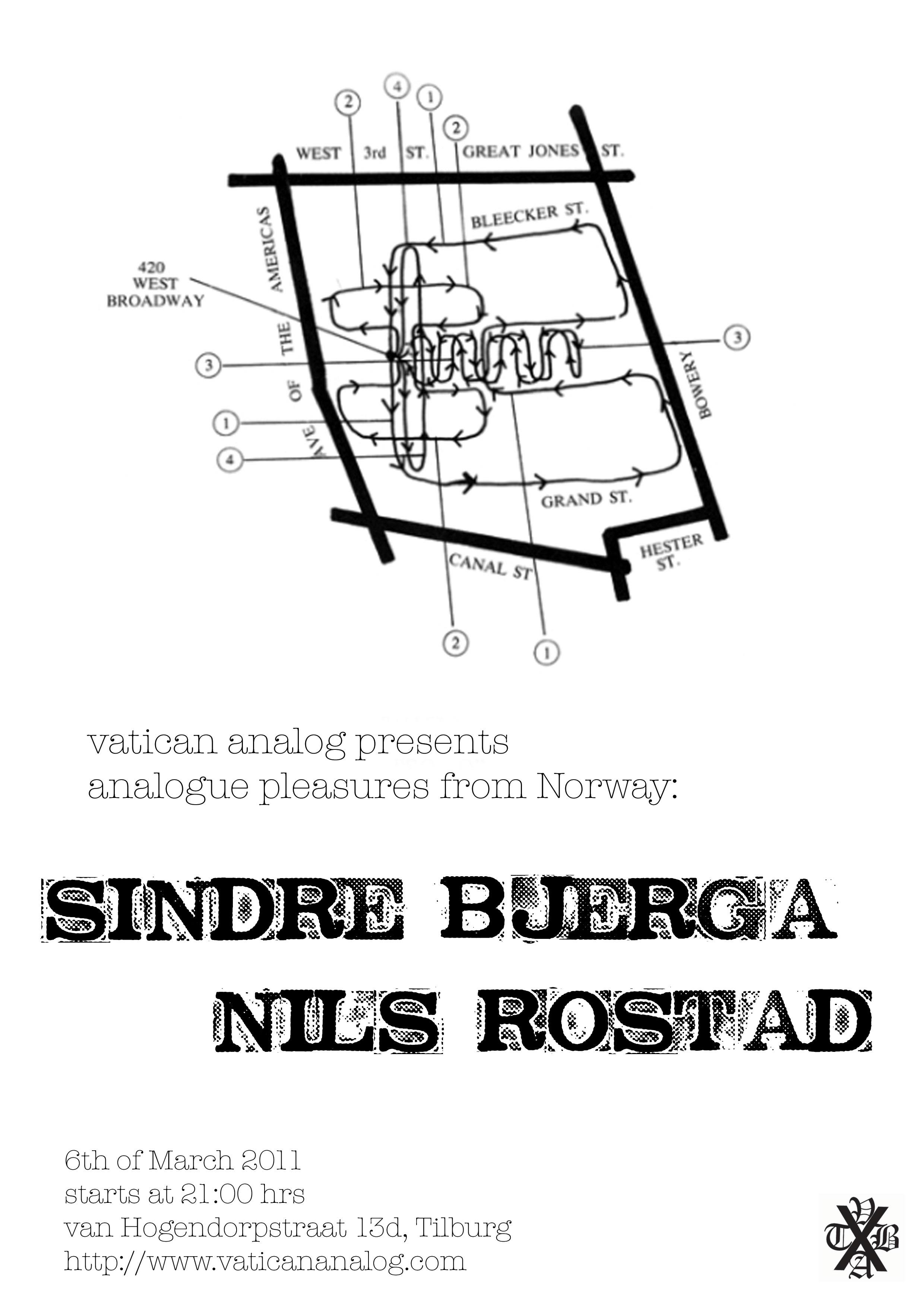 Upcoming show: Sindre Bjerga + Nils Rostad